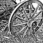 B&W Wagon Wheel by Purple Cloud Productions, Inc.