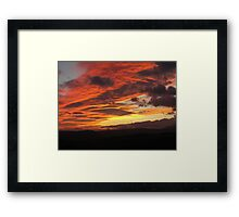 Beautiful phenomenon in the sky Framed Print