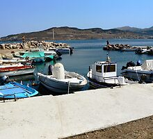 A small marina in Lesbos, Greece. by ronsaunders47