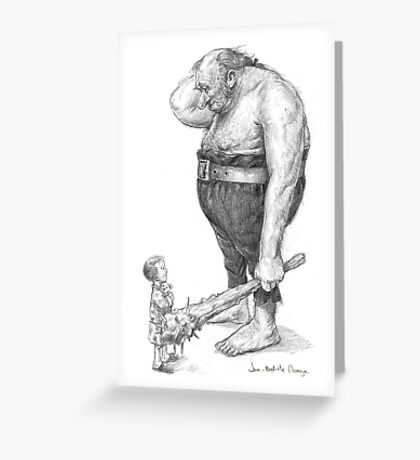 The Ogre and the Child Greeting Card