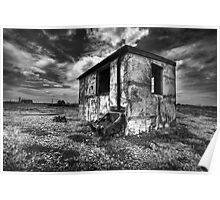 Old fishing hut dungeness Poster