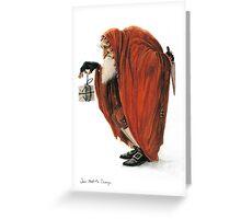 Bogey-Santa Greeting Card