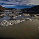 A melting glacier in Iceland by Sven Brogren