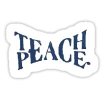 Teach Peace Graffitti Sticker Sticker