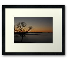 Fog in the Valley Framed Print