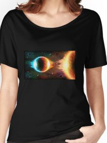 Space background Women's Relaxed Fit T-Shirt