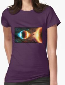 Space background Womens Fitted T-Shirt