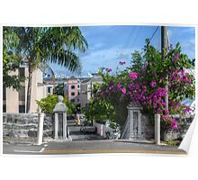 Charlotte Street in Downtown Nassau, The Bahamas Poster
