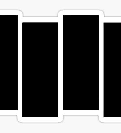 Black F Sticker