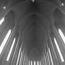 Hallgrimskirkja, a church with modern architecture in Iceland by Sven Brogren