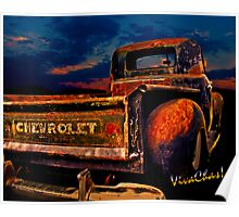 Rat Rod Chevy Truck the Pickup Chevrolet Never Made Poster