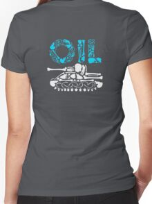 OIL  Women's Fitted V-Neck T-Shirt