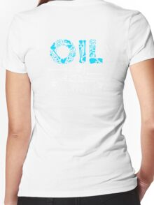 OIL  Women's Fitted V-Neck T-Shirt