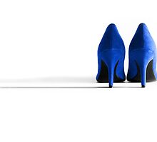 Blue High Heel Shoes by Natalie Kinnear