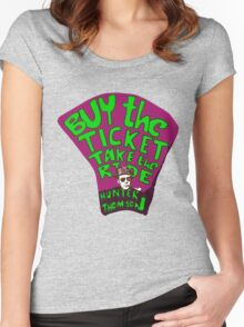 Hunter S. Thompson quotes Women's Fitted Scoop T-Shirt