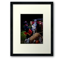 Scary Carriage Framed Print