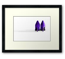 Purple High Heel Shoes Framed Print