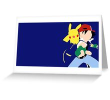 Ash/Pikachu Greeting Card
