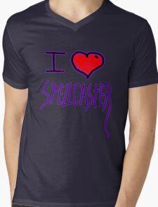 i love spell caster witch of halloween   Mens V-Neck T-Shirt