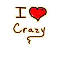 i love crazy tee  Photographic Print