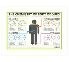 The Chemistry of Body Odours Art Print