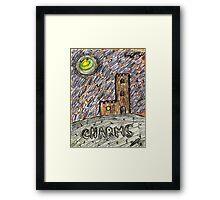 charms castle magic drawing crayon spiral art tia knight  Framed Print