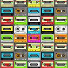 Ghettoblaster/Boombox Ammunition (Retro Cassette Pattern) by Creative Spectator