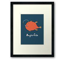 A for Anglerfish Framed Print