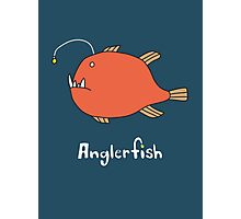 A for Anglerfish Photographic Print