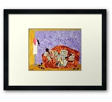 Good Company and the The Crazy Quilt Framed Print