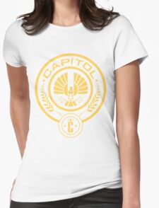 The Hunger Games Capitol Seal Womens Fitted T-Shirt