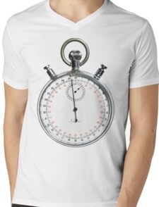 time  Mens V-Neck T-Shirt