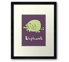 E for Elephant Framed Print