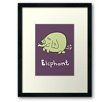 E for Elephant Framed Print