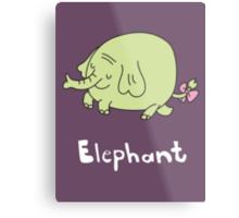 E for Elephant Metal Print