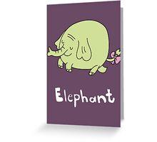 E for Elephant Greeting Card