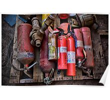 Extinguishers at Rest Poster
