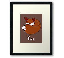 F for Fox Framed Print