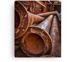 In the alley, with a pipe 2 Canvas Print