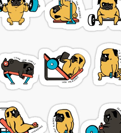 Leg Day with The Pug Sticker