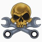 Skull and Wrenches by screamingtiki