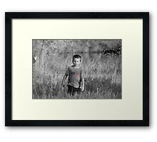 Man on a Mission... Framed Print