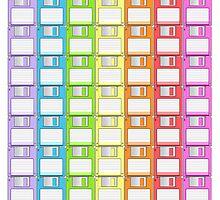 Floppy Disk Rainbow  by Creative Spectator