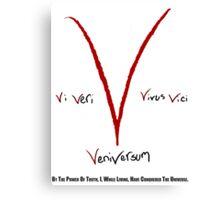 V for Vendetta - Vi Veri Veniversum Vivus Vici Canvas Print