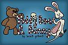 Teddy Bear And Bunny - Book Cover by Brett Gilbert