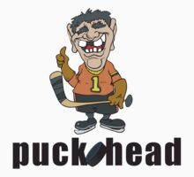"Funny Hockey ""Puck Head"" by SportsT-Shirts"