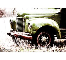Ole' Green Truck Photographic Print