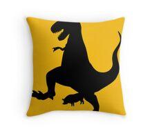 Jurassic Pork Throw Pillow