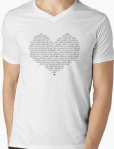 Hungry Heart Mens V-Neck T-Shirt