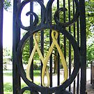 Old Steel Gate by Russell Voigt